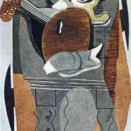 《灰色表》喬治·布拉克(Georges Braque)高清作品欣賞