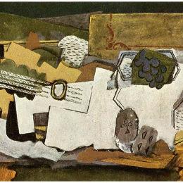 《吉他的靜物》喬治·布拉克(Georges Braque)高清作品欣賞