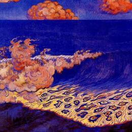 《藍色海景,波浪效應》喬治·拉孔布(Georges Lacombe)高清作品欣賞