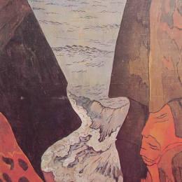 《Camaret附近的懸崖》喬治·拉孔布(Georges Lacombe)高清作品欣賞