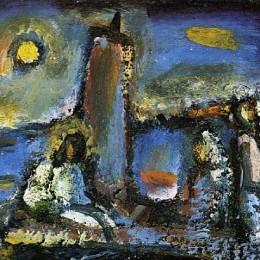 《基督在湖心島上》喬治·魯奧(Georges Rouault)高清作品欣賞