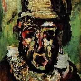《丑角悲劇》喬治·魯奧(Georges Rouault)高清作品欣賞