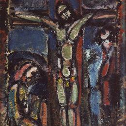 《被釘十字架》喬治·魯奧(Georges Rouault)高清作品欣賞