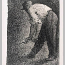 《碎石機》喬治·修拉(Georges Seurat)高清作品欣賞