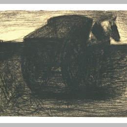 《馬車或馬車》喬治·修拉(Georges Seurat)高清作品欣賞