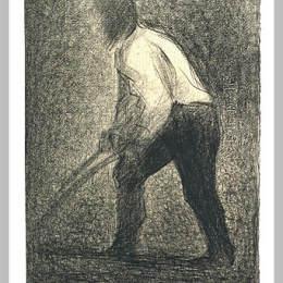《農夫》喬治·修拉(Georges Seurat)高清作品欣賞