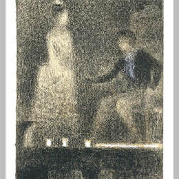 《劇院里的景色》喬治·修拉(Georges Seurat)高清作品欣賞