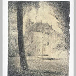 《樹干》喬治·修拉(Georges Seurat)高清作品欣賞