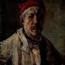 《紅帽子自畫像》格奧爾基佩特拉斯庫(Gheorghe Petrascu)高清作品欣賞