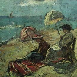 《在傘下,在傘下》格奧爾基佩特拉斯庫(Gheorghe Petrascu)高清作品欣賞