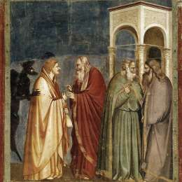 《猶大收到背叛的報酬》喬托·迪·邦多內(Giotto)高清作品欣賞