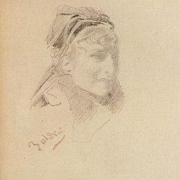 《貝恩哈特畫像》喬瓦尼·波爾蒂尼(Giovanni Boldini)高清作品欣賞