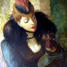 《紅羽》喬瓦尼·波爾蒂尼(Giovanni Boldini)高清作品欣賞