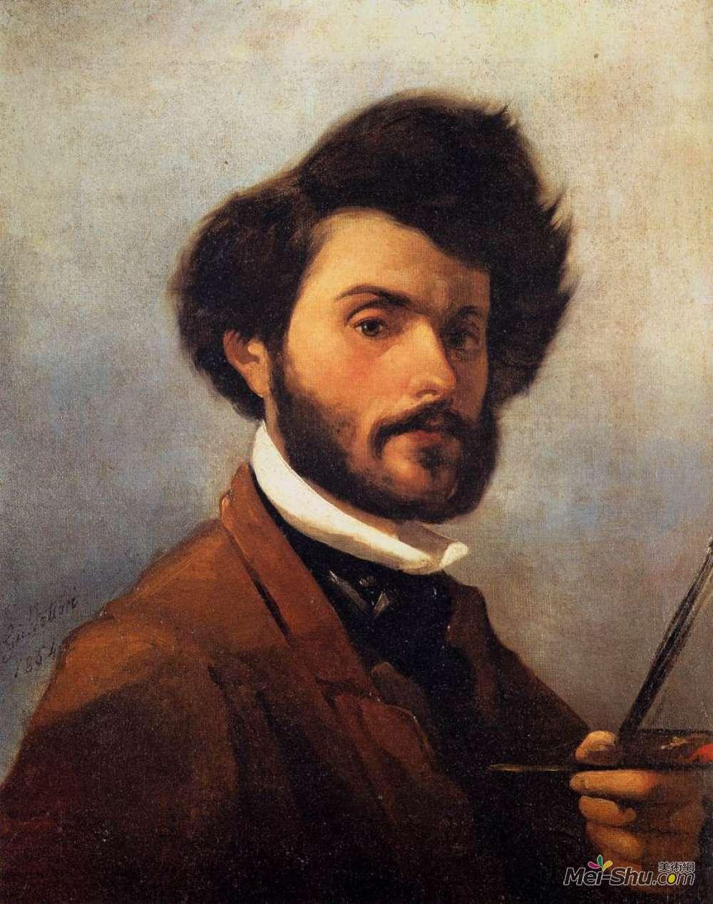 乔瓦尼·法托里(Giovanni Fattori)高清作品《自画像》