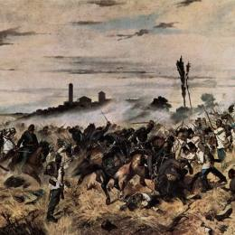 喬瓦尼·法托里(Giovanni Fattori)高清作品:Storming of the Madonna della Scoperta