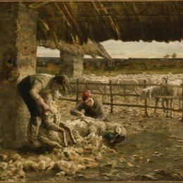 《剪羊毛》喬凡尼·塞岡提尼(Giovanni Segantini)高清作品欣賞