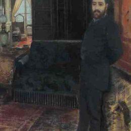 《自畫像》朱塞佩·德·尼蒂斯(Giuseppe de Nittis)高清作品欣賞
