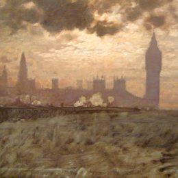 《威斯敏斯特大橋》朱塞佩·德·尼蒂斯(Giuseppe de Nittis)高清作品欣賞