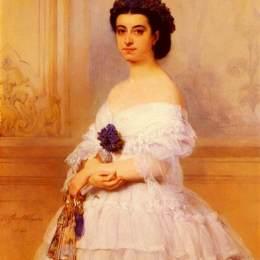 古斯塔夫·瓦普爾斯(Gustaf Wappers)高清作品:Marquise De Louvencour