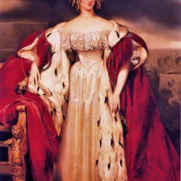 古斯塔夫·瓦普爾斯(Gustaf Wappers)高清作品:Portrait of Louise of Orl&ampéans