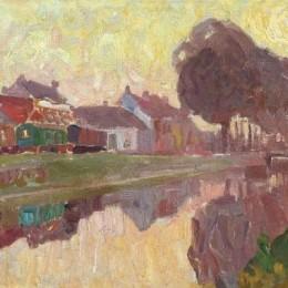 《根特,一種觀點》古斯塔夫德斯梅特(Gustave de Smet)高清作品欣賞
