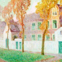 《布魯日的貝吉恩修道院》古斯塔夫德斯梅特(Gustave de Smet)高清作品欣賞