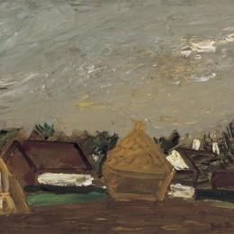 古斯塔夫德斯梅特(Gustave de Smet)高清作品:Landschap met Stromijt
