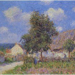 《沃德勒伊小農場》古斯塔夫·洛伊索(Gustave Loiseau)高清作品欣賞
