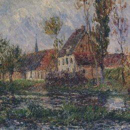 《厄爾河小農場》古斯塔夫·洛伊索(Gustave Loiseau)高清作品欣賞