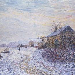 《塞納河附近的雪崩》古斯塔夫·洛伊索(Gustave Loiseau)高清作品欣賞