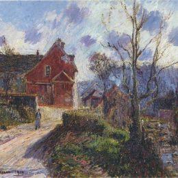 《紅畫屋》古斯塔夫·洛伊索(Gustave Loiseau)高清作品欣賞