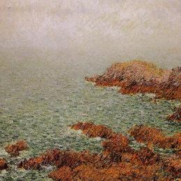 《紅巖》古斯塔夫·洛伊索(Gustave Loiseau)高清作品欣賞
