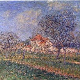 《盛開的樹》古斯塔夫·洛伊索(Gustave Loiseau)高清作品欣賞