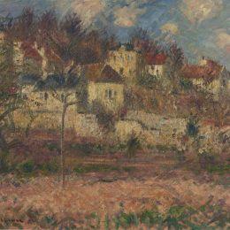 《山上的村莊》古斯塔夫·洛伊索(Gustave Loiseau)高清作品欣賞