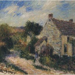 《鄉村道路》古斯塔夫·洛伊索(Gustave Loiseau)高清作品欣賞