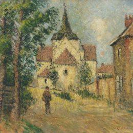 《村街》古斯塔夫·洛伊索(Gustave Loiseau)高清作品欣賞