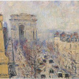 《瓦格倫大道》古斯塔夫·洛伊索(Gustave Loiseau)高清作品欣賞