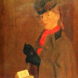 《藝術家肖維尼弗雷德的畫像》格溫·約翰(Gwen John)高清作品欣賞