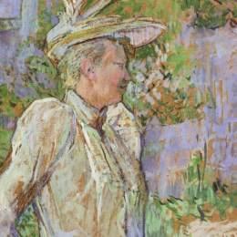 《舞蹈家加布里?!泛嗬?middot;瑪麗·雷蒙·德·圖盧茲-勞特累克(Henri de Toulouse-Lautrec)高清作品欣賞