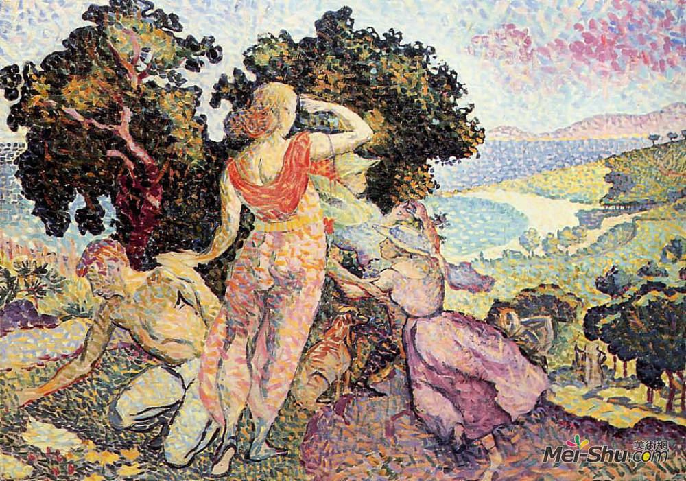 亨利·埃德蒙·克罗斯(Henri-Edmond Cross)高清作品《短途旅游者》