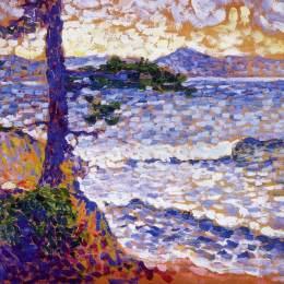 《地中海沿岸》亨利·埃德蒙·克羅斯(Henri-Edmond Cross)高清作品欣賞