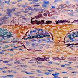 《高架橋》亨利·埃德蒙·克羅斯(Henri-Edmond Cross)高清作品欣賞