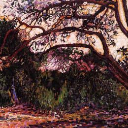 《濕地景觀》亨利·埃德蒙·克羅斯(Henri-Edmond Cross)高清作品欣賞