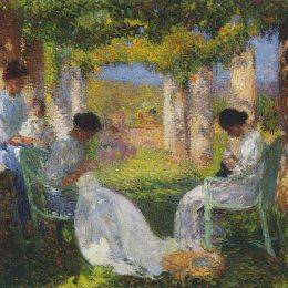 《婦女縫紉》亨利馬丁(Henri Martin)高清作品欣賞