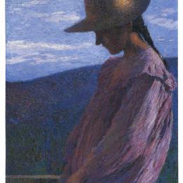 《坐著的少女》亨利馬丁(Henri Martin)高清作品欣賞
