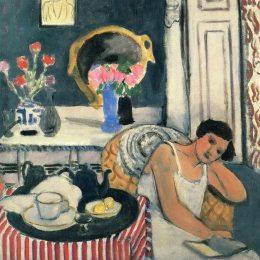 《女性閱讀》亨利·馬蒂斯(Henri Matisse)高清作品欣賞
