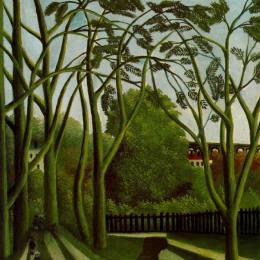 亨利·盧梭(Henri Rousseau)高清作品:Landscape on the Banks of the Bievre at Becetre