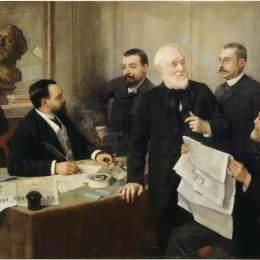亨利·盧梭(Henri Rousseau)高清作品:Portrait of Jules Roc