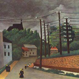 亨利·盧梭(Henri Rousseau)高清作品:View of Malakoff Hauts de Seine