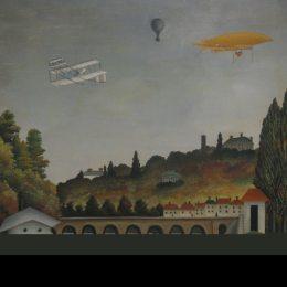 亨利·盧梭(Henri Rousseau)高清作品:View of the Bridge at Sevres and the Hills at Clamart St. Cl